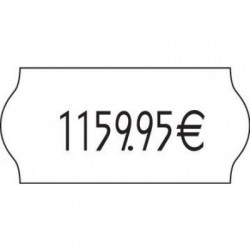 43200 Etiquettes Meto 26x16 mm blanc