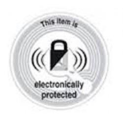 2000 Etiquettes antivol Rondes 33MM EP RF black lock